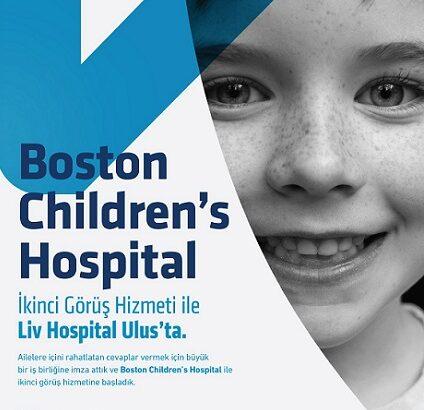 Liv Hospital Ulus ve Boston's Children Hospital'dan İşbirliği
