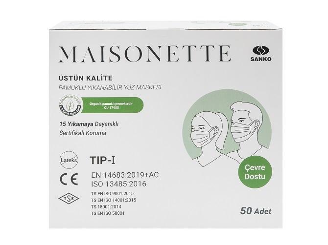 Maisonette'ten Pamuklu Yüz Maskeleri