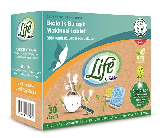 Life by Fakir'den Vegan ve Ekolojik Bulaşık Tableti